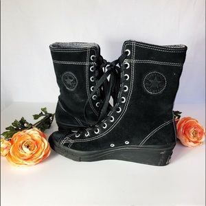 Converse Wedge Grunge Queen High Tops.